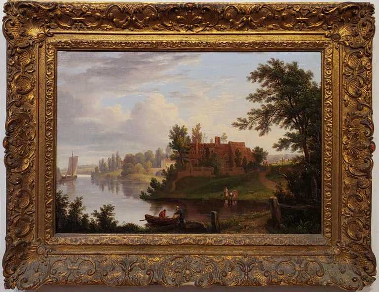George Vincent Panoramic Landscape painting of the River Yare in Norwich England - Painting by George Vincent