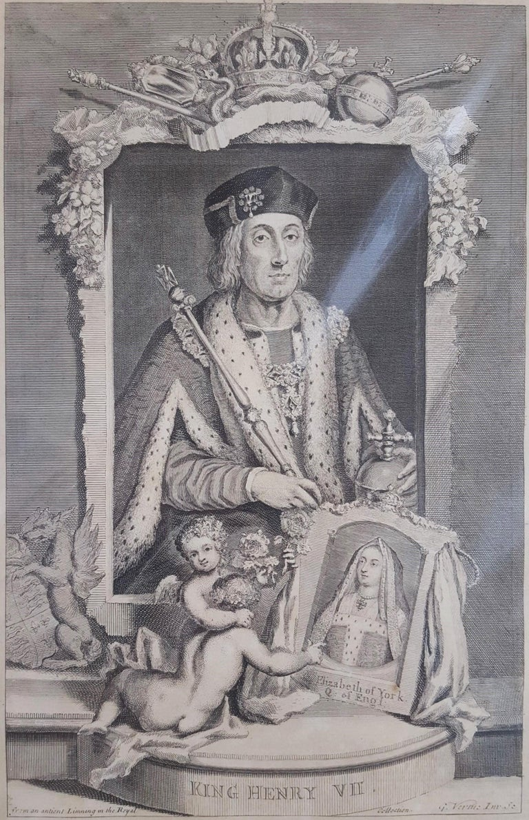George Virtue Portrait Print - King Henry VII