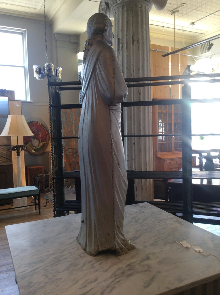 George Washington 1870s Cast Iron Stove Figure For Sale 6