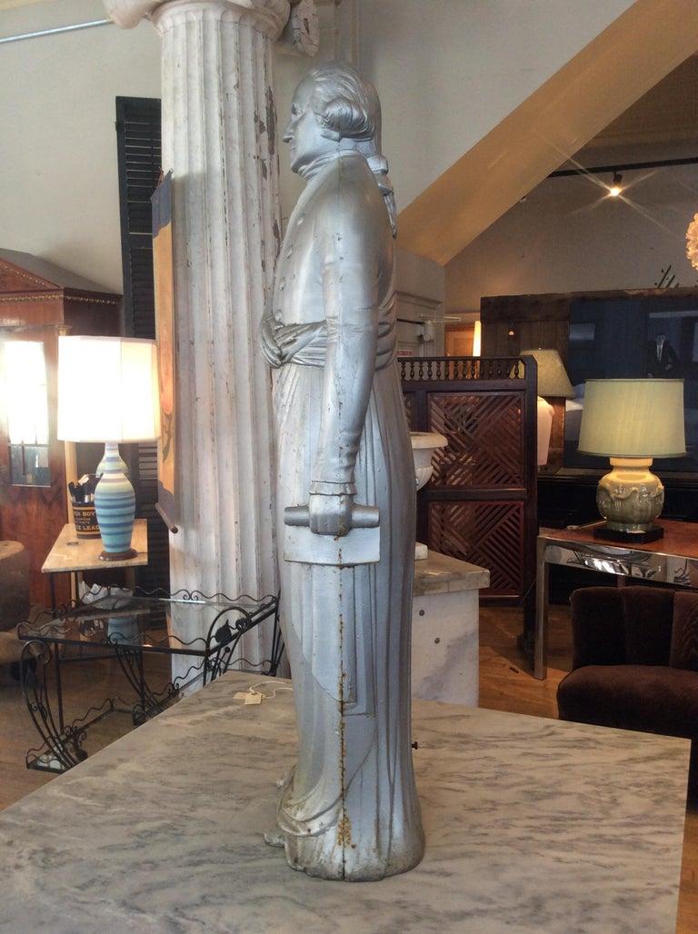 American George Washington 1870s Cast Iron Stove Figure For Sale
