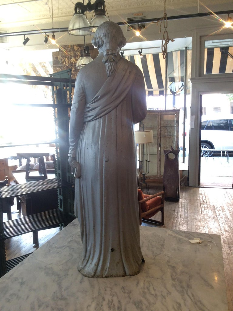 George Washington 1870s Cast Iron Stove Figure In Good Condition For Sale In Hudson, NY