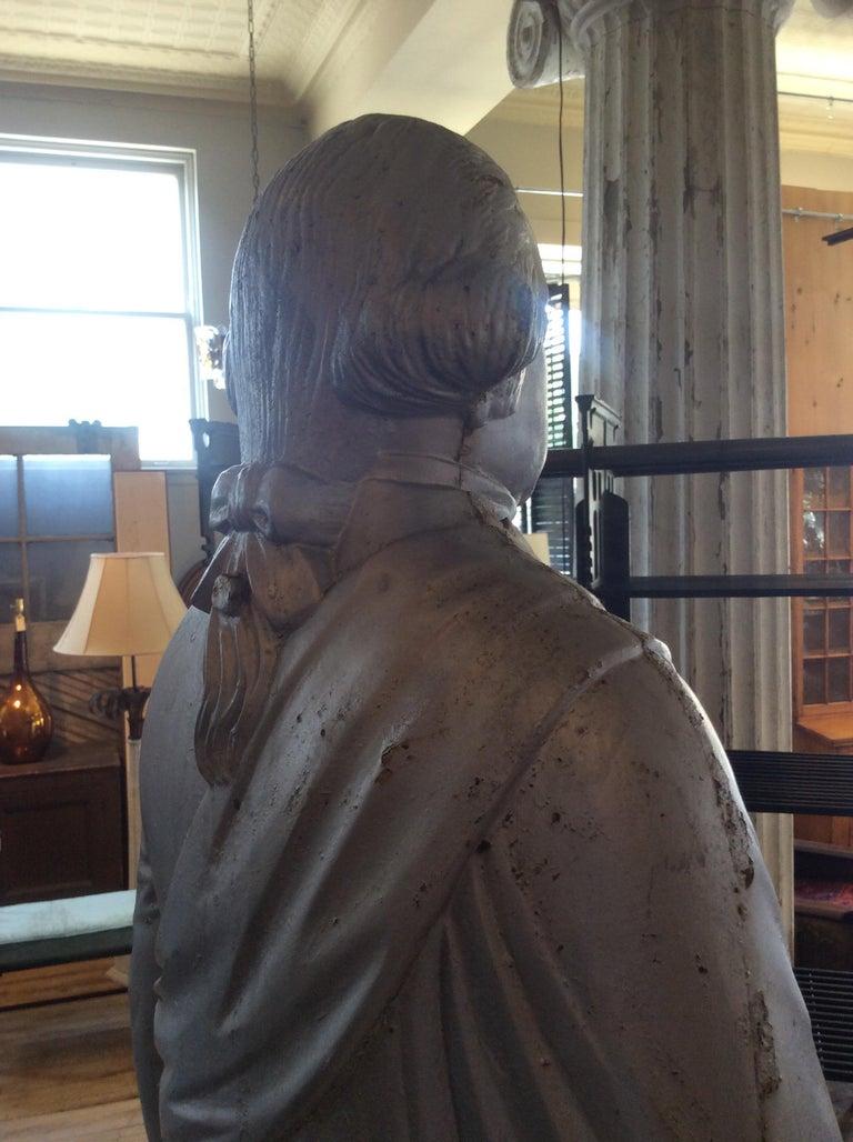 Mid-19th Century George Washington 1870s Cast Iron Stove Figure For Sale