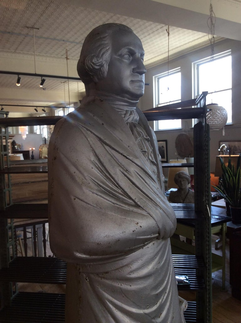George Washington 1870s Cast Iron Stove Figure For Sale 1