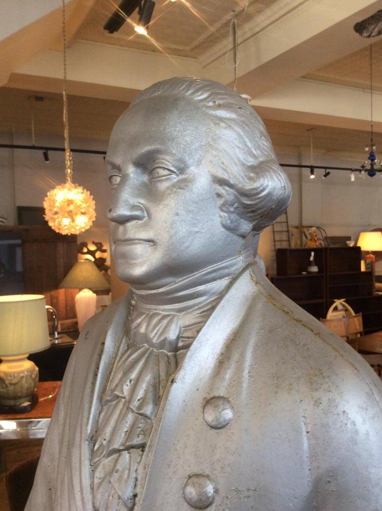 George Washington 1870s Cast Iron Stove Figure For Sale 3