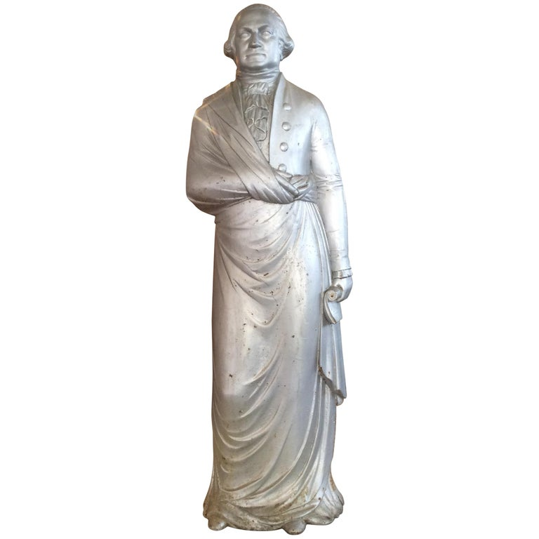 George Washington 1870s Cast Iron Stove Figure For Sale