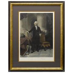 """George Washington"" Antique Engraving, by A. H. Ritchie, circa 1852"