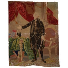 George Washington Hand Embroidered Tapestry, circa 1850s