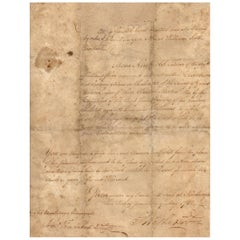 George Washington Handwritten and Signed Letter, Dated May 22, 1782