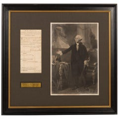 George Washington Signed Military Discharge Collage