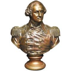 George Washington, Vintage Bronze Bust, 20th Century