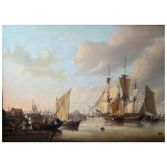 George Webster, Original Painting of Limehouse Reach, London