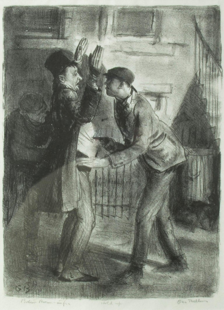 George Wesley Bellows Figurative Print - The Hold Up, First State