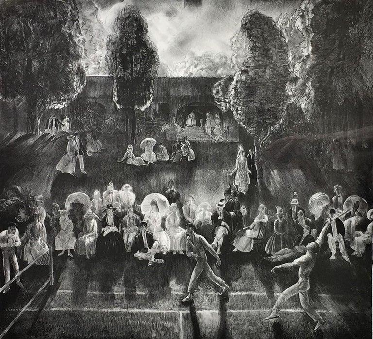 George Wesley Bellows Portrait Print - Tennis (Tennis Tournament).