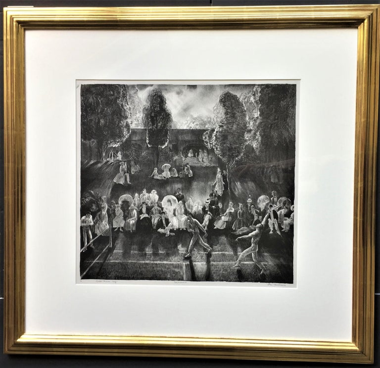 Tennis (Tennis Tournament).  - Print by George Wesley Bellows