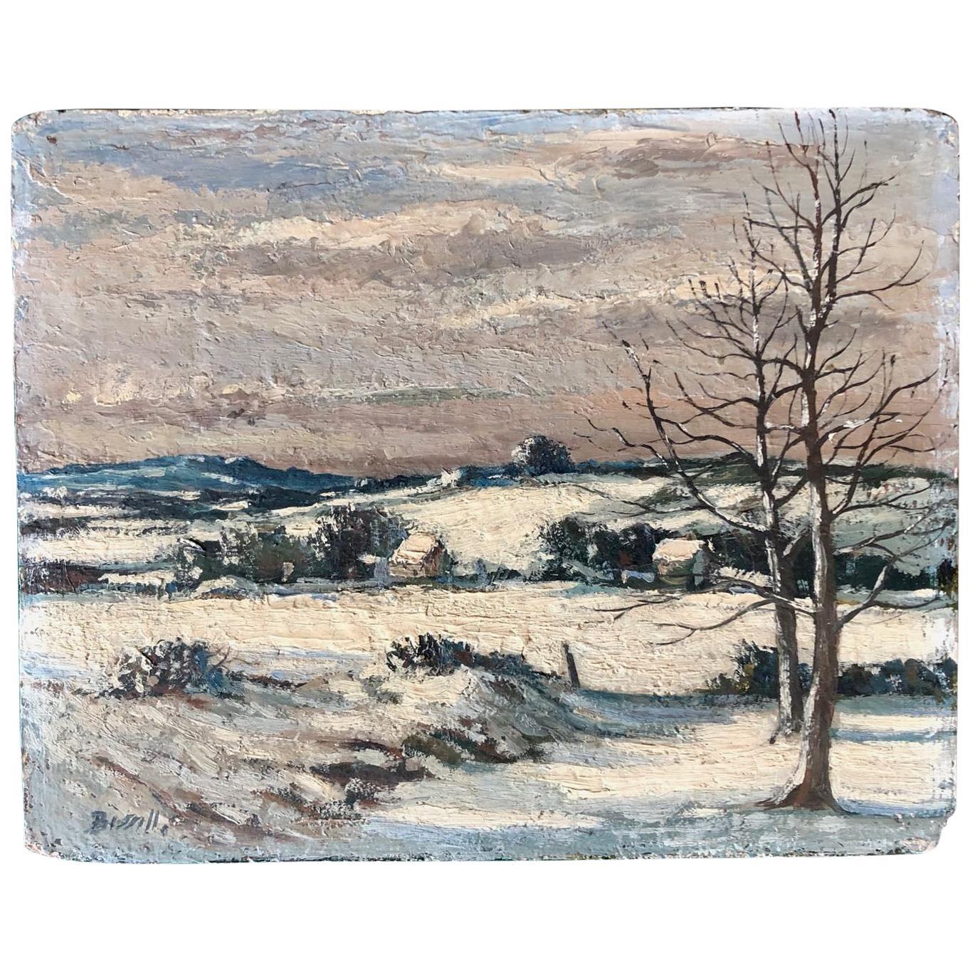George William Bissill (1896-1973), British, Oil Painting , Winter Landscape