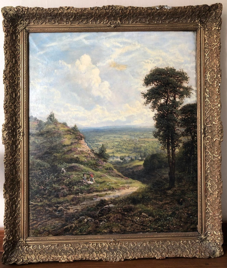 Landscape - Oil on Canvas by G. W. Mote - 1888 - Painting by George William Mote