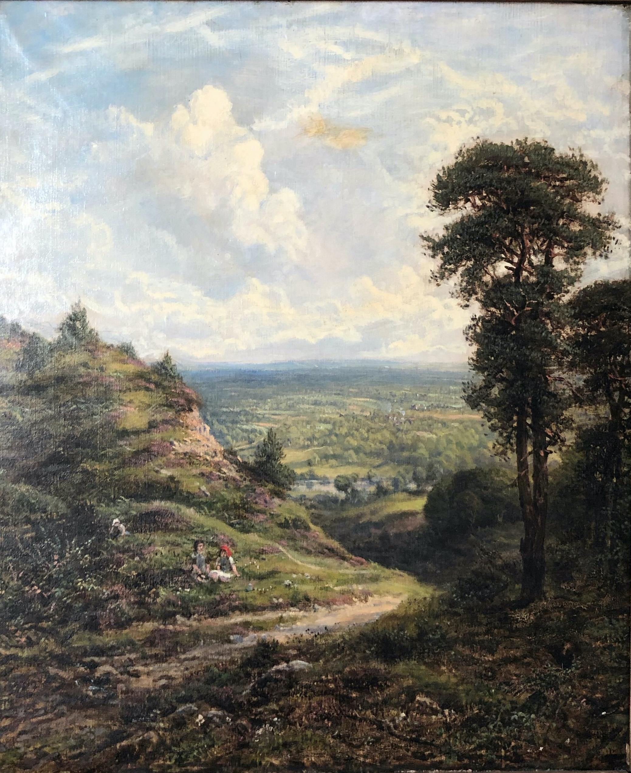 Landscape - Oil on Canvas by G. W. Mote - 1888