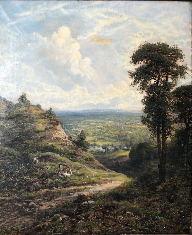 George William Mote Landscape Painting - Landscape - Oil on Canvas by G. W. Mote - 1888