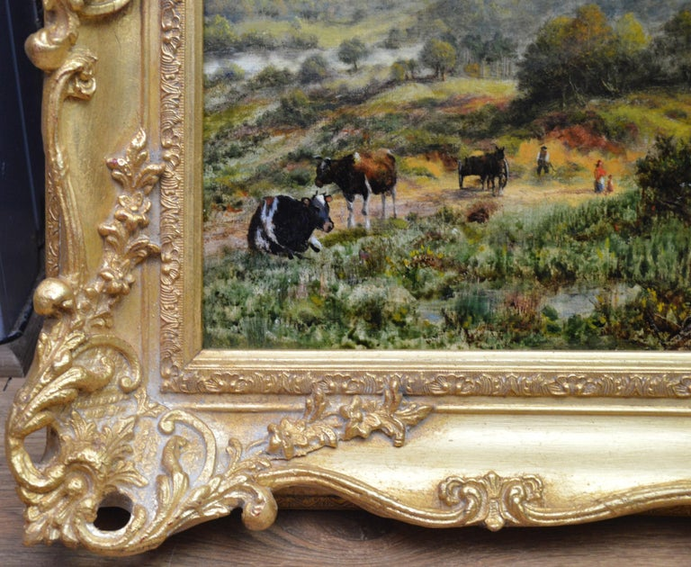 View from the Surrey Hills - 19th Century Victorian Landscape Oil Painting 8