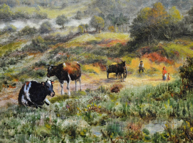 View from the Surrey Hills - 19th Century Victorian Landscape Oil Painting 1