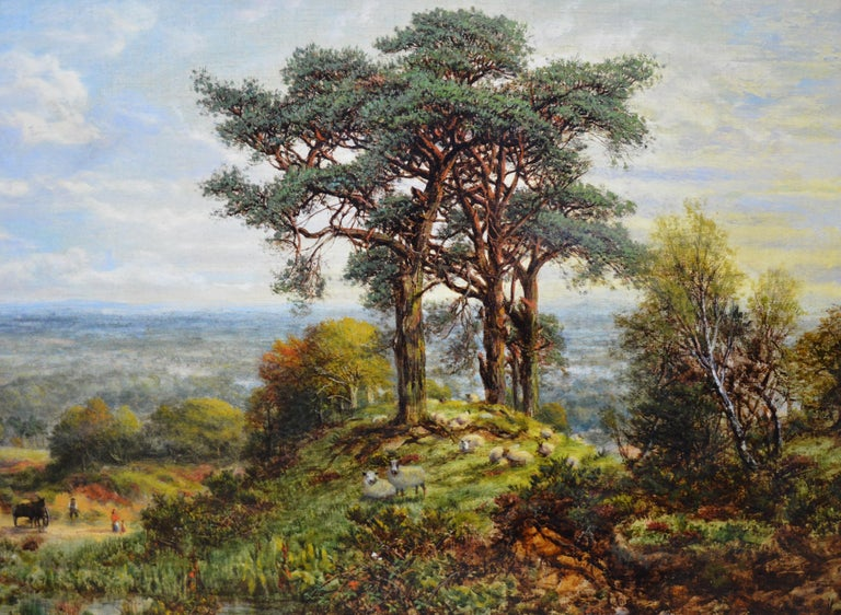 View from the Surrey Hills - 19th Century Victorian Landscape Oil Painting 2