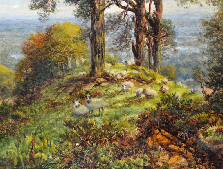 View from the Surrey Hills - 19th Century Victorian Landscape Oil Painting 5