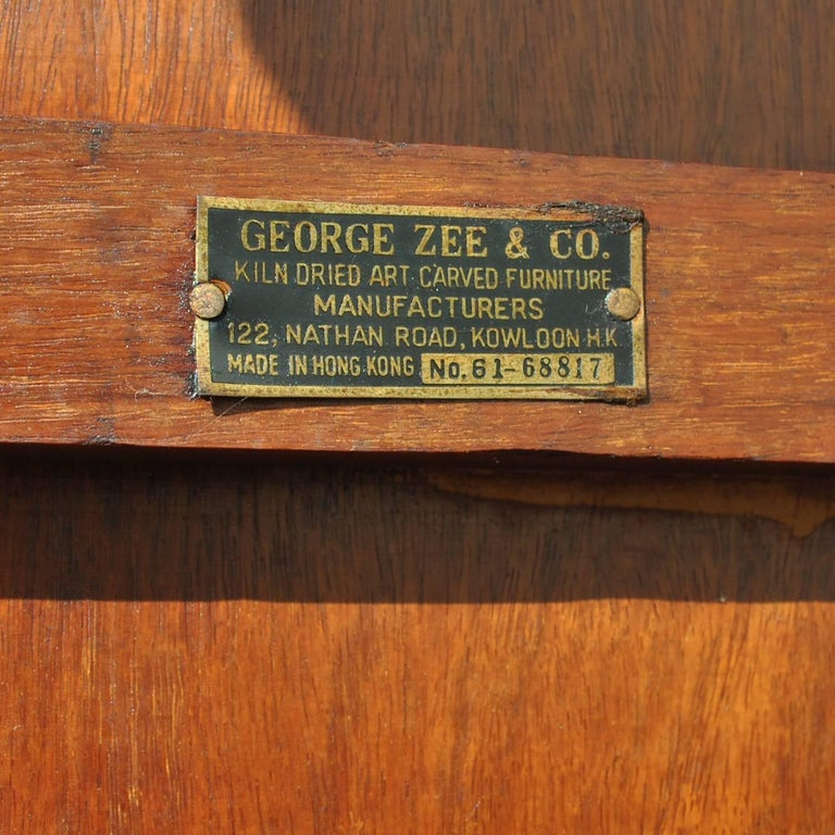 George Zee Chinese Ming Style Horseshoe Chair in Rosewood For Sale 2