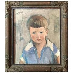 Georges Alphonse Rousseau 'BOY' Painting