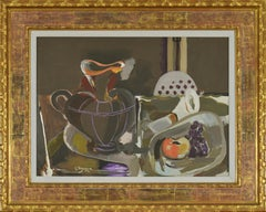 Still Life by Georges Braques titled Nature Morte à la Grande Cruche