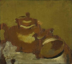 Thèiére et Citron by Georges Braque - still life oil on canvas executed in 1947