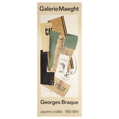 Georges Braque Papiers Colles 1912-1914 1970s French Insert Exhibition Poster