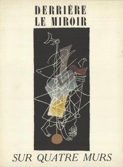 1951 After Georges Braque 'Sur Quatre Murs' Cubism France Lithograph