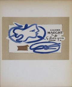 1959 After Georges Braque 'Galerie Maeght' Cubism France Lithograph
