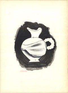 1959 Georges Braque 'Poivre Vase' Cubism Black & White France Lithograph