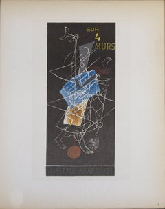 1959 After Georges Braque 'Sur 4 Murs Galerie Maeght' Cubism Lithograph