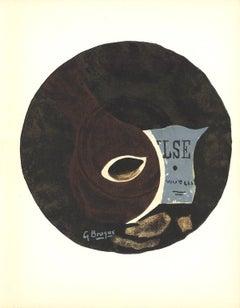 1960 Georges Braque 'Valse' Cubism Black France Lithograph