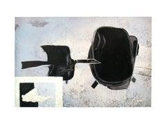1986 Georges Braque 'A Tire D'ailes' Cubism Black & White France Lithograph