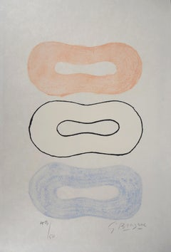 Abstract Composition - Original Lithograph Handsigned and Numbered - 50 copies