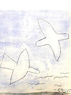 after Georges Braque - Birds - Pochoir