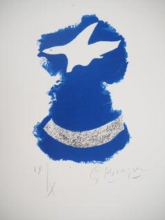 Bird Flying Over Sea - Original lithograph, Handsigned, Ltd / 10 (Mourlot #87)