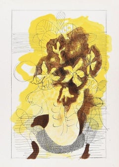 "Bouquet  - Original Lithograph for Revue ""Verve"" by Georges Braque - 1955"