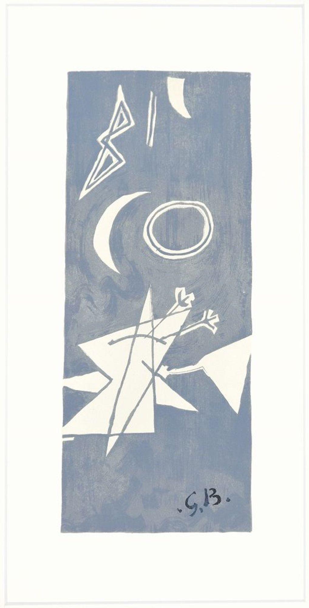 Ciel Gris II  - Original Lithograph by Georges Braque - 1959