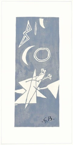 Ciel Gris II  - Original Lithograph by Georges Braque - 1959