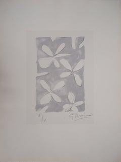 Flower Pattern - Original lithograph, Handsigned, Ltd / 10 - Mourlot #88