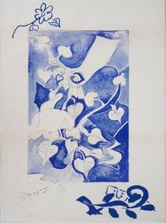 Garden in Blossom - Original lithograph, hand signed (Mourlot)