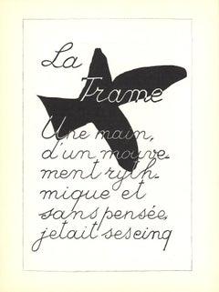 """Georges Braque-La Liberte des Mers-15"""" x 11""""-Lithograph-1960-Cubism-Black"""