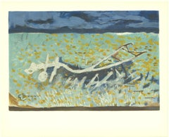 """Georges Braque-Varengeville No. 2-11.75"""" x 14.5""""-Lithograph-Cubism-Turquoise"""
