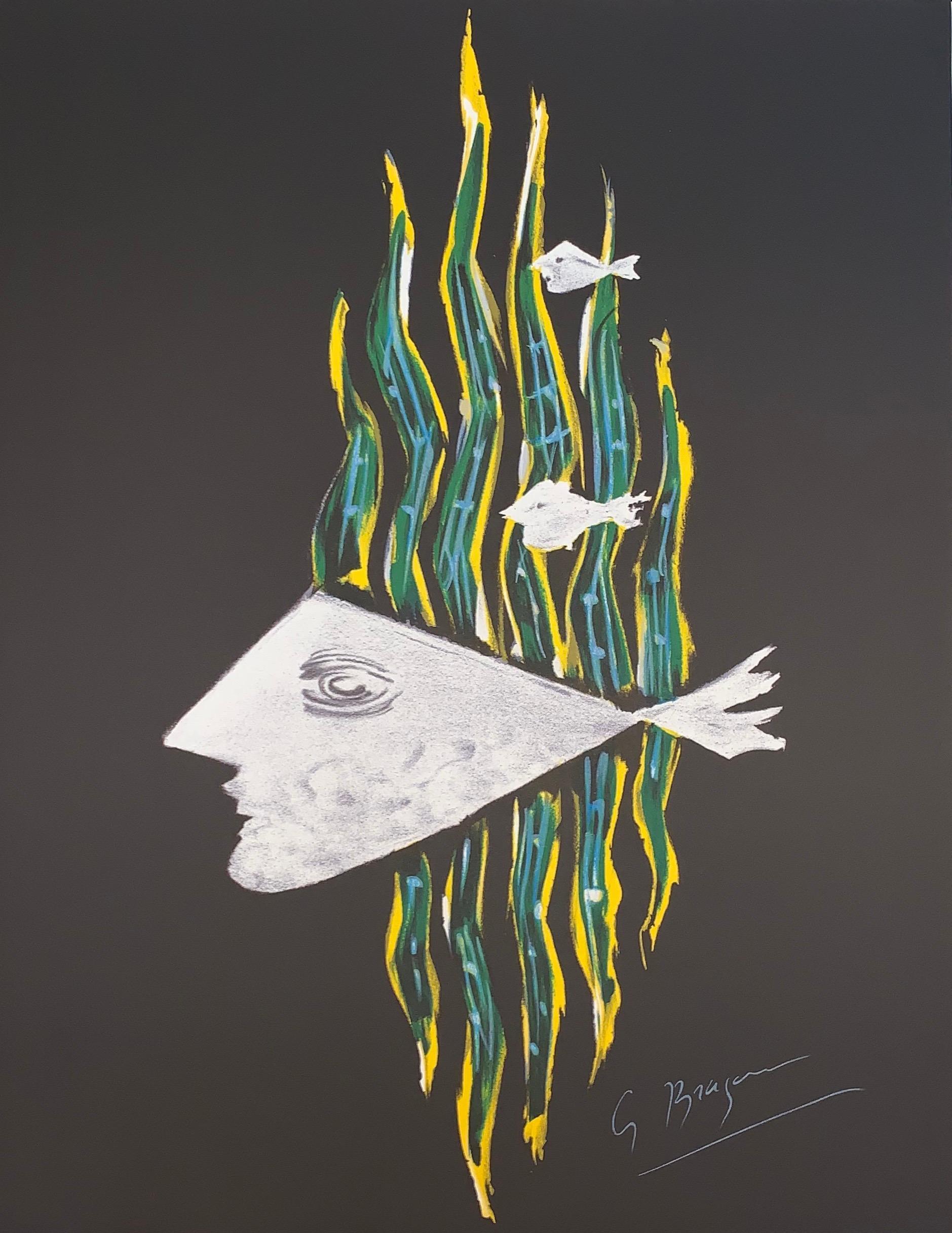 Hébé - after Georges Braque - Lithograph - 1988 - Figurative Print