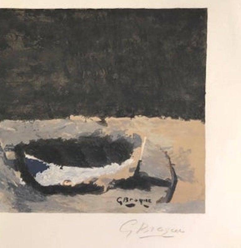 La barque sur la grève - Original Lithograph by G. Braque - 1960 - Print by Georges Braque
