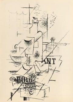 La Bouteille - Georges Braque - Lithograph - Modern